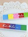 6 cores do arco-íris selos inkpad para favores do partido pintura impressão digital recados crianças aniversário de casamento