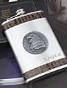 personalizado plata regalo 9 oz petaca de acero inoxidable - aguila