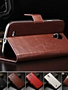 Crazy Horse PU Leather Full Body Case with Card Slot and Stand for Samsung Galaxy S4 I9500  (Assorted Colors)