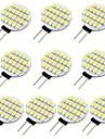 10 stuks 1.5 W 118 lm G4 2-pins LED-lampen 24 LED-kralen SMD 3528 Warm wit Koel wit 12 V / RoHs