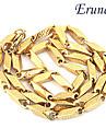 aço eruner®titanium grande muralha de ouro padrão de aço inoxidável colar