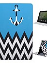 Case For iPad 4/3/2 with Stand Auto Sleep / Wake Full Body Cases Lines / Waves Textile for iPad 4/3/2