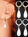 Drop Earrings Costume Jewelry Imitation Pearl Platinum Plated Gold Plated Jewelry For Wedding Party Daily Casual Sports