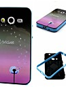 2-in-1 Star Dandelion Dream Pattern TPU Back Cover with PC Bumper Shockproof Soft Case for Samsung Core 2 G355H