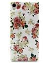 For Sony Case Xperia Z3 Case Cover Pattern Back Cover Case Flower Soft TPU for Sony Sony Xperia Z3 Sony Xperia Z3 Compact