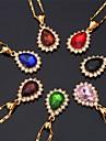 Женский Ожерелья-бархатки Ожерелья с подвесками Синтетический алмаз Круглый Синтетические драгоценные камни Стразы Позолота Искусственный