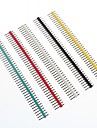 multicolores tetes de broches de pas de 2,54 mm a 40 broches (10 pcs)