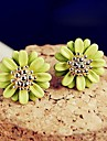 Earring Stud Earrings Jewelry Women Wedding / Party / Daily / Casual Gold Plated