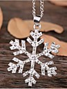 Shape Pendant Necklace Rhinestone Alloy Pendant Necklace Wedding Party Daily Casual Costume Jewelry