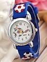 детский спортивный стиль футбола силиконовый ремешок кварцевые наручные часы синий (1шт)