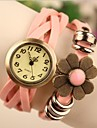 Mulheres Relógio de Moda Quartzo Quartzo Japonês Couro Banda Azul Marrom Rosa Rose marca