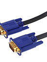 5m 16.4ft VGA 15 broches male pour cable de connexion de donnees male VGA or plaque hd tv projecteur d\'ordinateur - noir