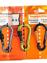 7mm Carabiner With Screw Lock Quick Release Hanging Keychain (Random Color)
