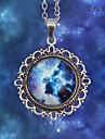 Eruner®Retro Planet Galaxy Deco Quirky Kitsch Pendant Necklace
