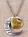 Love Moon Dripping Alphabetical Necklace