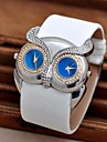 Women's The Owl Double Dial Double Movement Diamond Watches  Circular High Quality  Watch Movement(Assorted Colors)
