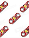 HZLED 5V 40mA 3000K 400-500MCD Warm White Mini 3000K LED Module - Red (5 PCS)
