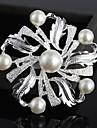 Mode strass fleur de perles broches de couleur aleatoire