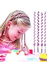 6Pcs 24cm Violet Children\'s Curly Hair Rope