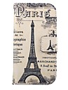 Letters and Paris Tower Pattern PU Leather Full Body Cases with Stand for Samsung Galaxy Ace Style Lite G310