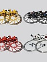 WEST BIKING®Bicycle Disc Brake 160mm Caliper Rotor BB5 BB7 MTB Front and Rear Disc Brakes+2 Disc Brakes Tablets+Screws Cycling Disc Brake