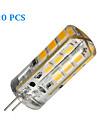 YWXLIGHT® 20pcs 270 lm G4 Двухштырьковые LED лампы 24 светодиоды SMD 2835 Тёплый белый Холодный белый DC 12V