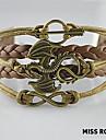 пропустите rose®multilayer сплав дракон ручной работы кожаные браслеты