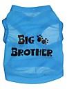 Кошка Собака Футболка Одежда для собак Буквы и цифры Синий