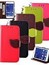 karzea® folha mistura de cores de couro TPU corpo inteiro com suporte para Samsung Galaxy Core 2 g3556d / g355h (