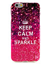 Keep Calm and Sparkle Pattern Silicone Soft Cover and Mini Diaplay Stand for iPhone 6/6S