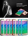 amor mei ultrafino liga amortecedor borda curva tampa da caixa de metal para Samsung Galaxy alfa G850