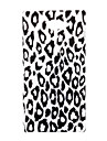 pc revestido caso tampa traseira dura óleo padrão de estampa de leopardo para Sony Xperia m2 d2303 d2305 d2306 m2 dupla d2302