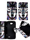 Case For LG L90 LG L70 LG LG Case Card Holder Wallet with Stand Flip Full Body Cases Animal Hard PU Leather for