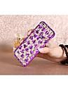 Bright Tin Foil Design Love PC Pattern Hard Case for iPhone 6 plus