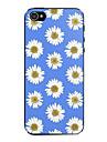 caso dificil padrao crisantemos azul e branco para iPhone 5 / 5s