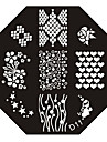 Nail Art Stempel Stamping Schablone Platte d Serie no.11