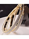 Hoop Earrings Gold Plated Alloy Fashion Jewelry Wedding Party Daily Casual Sports