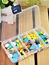 Travel Boite / Etui a Medicaments de Voyage Rectangulaire Accessoires d\'Urgence de Voyage Plastique