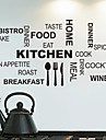 Wall Stickers Wall Decals,  Kitchen English Words & Quotes PVC Wall Stickers