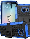 삼성 Samsung Galaxy S6 edge - 뒷 커버 - 그리드 패턴 - 삼성 모바일폰 ( 블랙/화이트/레드/그린/블루/퍼플/로즈/오렌지 , 실리콘 )