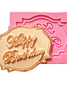 Happy Birthday Cupcake Card Fondant Cake Molds Decoration Chocolate Mould For The Kitchen Baking For Sugar Candy