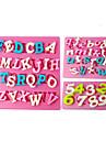 Four-C moldes numero moldes do queque silicone fondant, ferramentas fondant de decoracao fornece cor rosa 3pcs / set