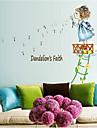 불어 민들레 소녀 PVC 벽 스티커