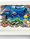 Ζώα 3D Αυτοκολλητα ΤΟΙΧΟΥ 3D Αυτοκόλλητα Τοίχου Διακοσμητικά αυτοκόλλητα τοίχου, Βινύλιο Αρχική Διακόσμηση Wall Decal Τοίχος