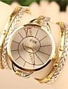 Жен. Часы-браслет Нарядные часы Модные часы Кварцевый Кожа Группа Богемные Белый Синий Коричневый Зеленый Золотистый Роуз
