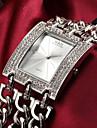 Женские Модные часы Кварцевый Нержавеющая сталь Группа Блестящие Серебристый металл / Золотистый бренд-