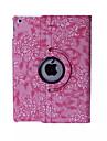 Capinha Para iPad Mini 3/2/1 Com Suporte Hibernacao / Ligar Automatico Origami Rotacao 360° Capa Protecao Completa Flor PU Leather para