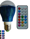 RGB lm E26/E27 LED Globe Bulbs A80 3PCS leds High Power LED Dimmable Decorative Remote-Controlled RGB AC 85-265V