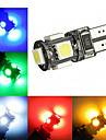 2W T10 Decoration Light 5 SMD 5050 120-150 lm Cold White Red Blue Yellow Green K Decorative DC 12 V