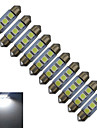 0.5W Festoon Decoration Light 3 SMD 5050 60lm Cold White 6000-6500K DC 12V